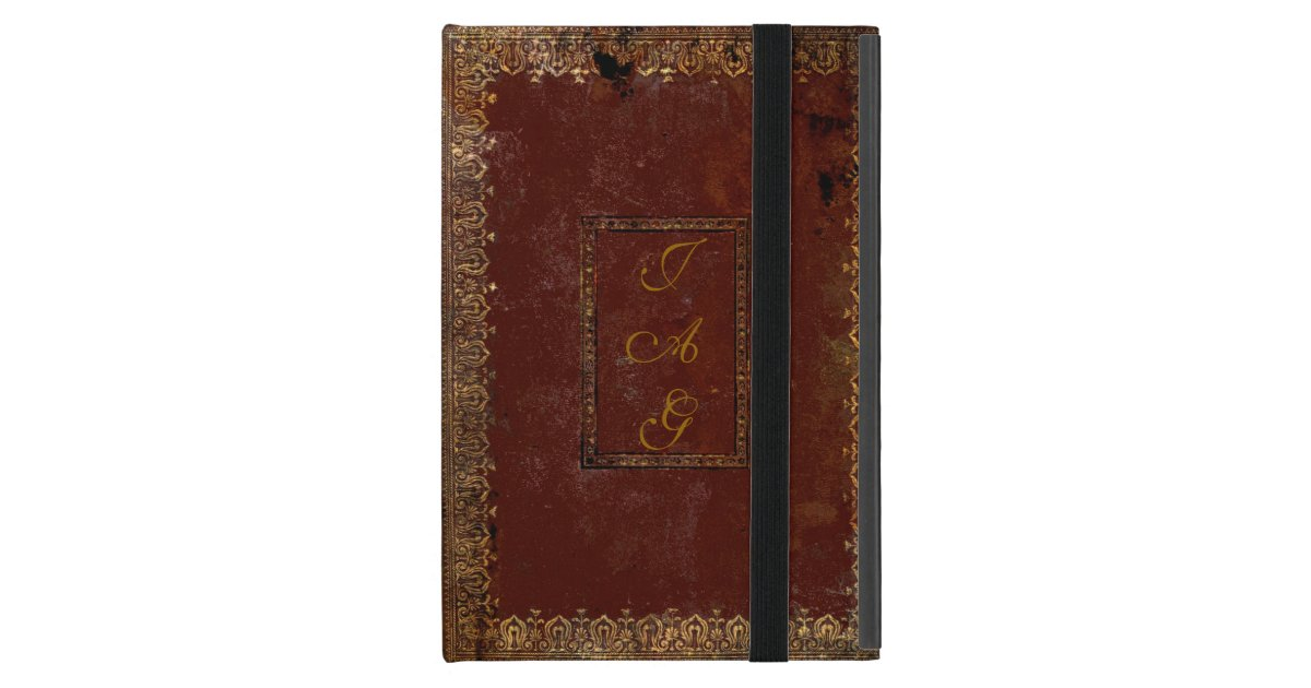 Old Looking Book Cover : Old leather victorian style book cover ipad mini