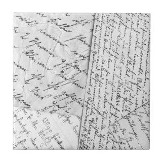 Old Letters Ceramic Tile