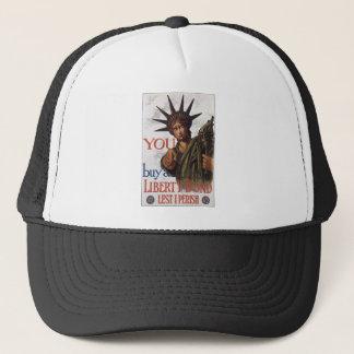"Old ""Liberty Bond""  U.S. War Poster c. 1917 Trucker Hat"