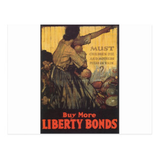 "Old ""Liberty Bonds""  U.S. War Poster c. 1918 Postcard"