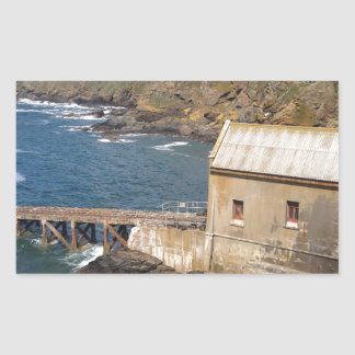 Old Lifeboat Station, Lizard Peninsula, Cornwall Rectangular Sticker