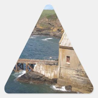 Old Lifeboat Station, Lizard Peninsula, Cornwall Triangle Sticker