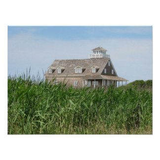 Old Lifesaving Station Outer Banks NC Poster