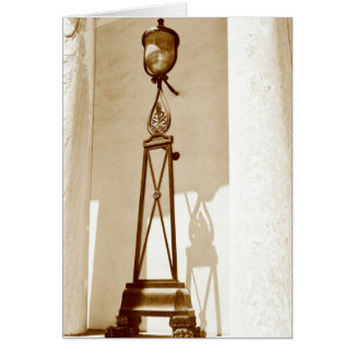 old light fixture in downtown Philadelphia - sepia Card