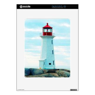 Old Lighthouse, Blue Ocean, Maritime, Nautical iPad Decal