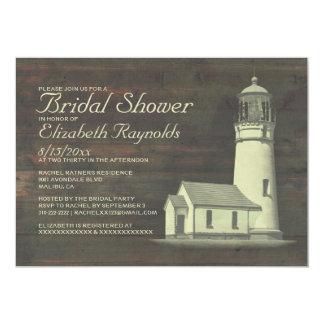 Old Lighthouse Bridal Shower Invitations Invites
