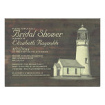 Old Lighthouse Bridal Shower Invitations Invites