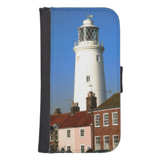 old lighthouse georgian houses seside town photo wallet phone case for samsung galaxy s4