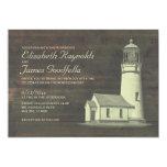Old Lighthouse Wedding Invitations Custom Invitation