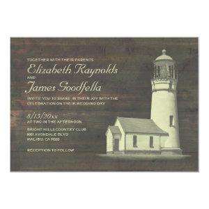 Old Lighthouse Wedding Invitations 5