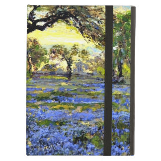 Old Live Oak Tree and Bluebells - Onderdonk art iPad Folio Cases