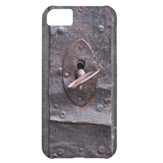 Old lock with key cover for iPhone 5C