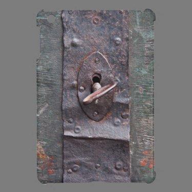Old lock with key iPad mini cases