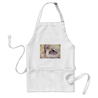 Old Log Cabin Adult Apron