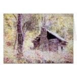 Old Log Cabin Cards