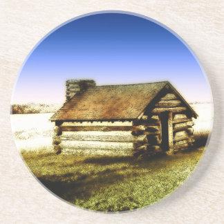 Old Log Cabin Beverage Coaster