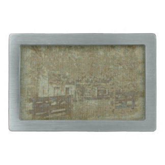 Old Log Cabin in Waterford VA cross-stitched Belt Buckles