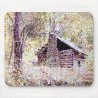 Old Log Cabin Mouse Pad