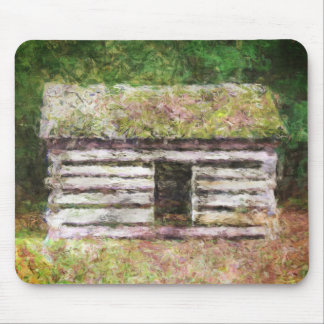 Old Log Cabin Mousepad