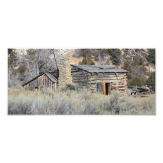 old log cabin photographic print