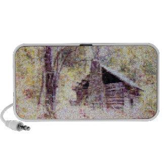 Old Log Cabin Laptop Speakers