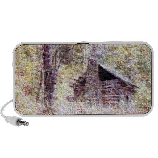 Old Log Cabin Travelling Speakers