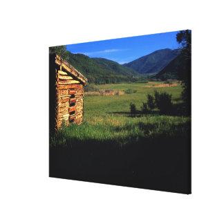 Old log homestead near Park City, Utah. (P.R.) Canvas Print