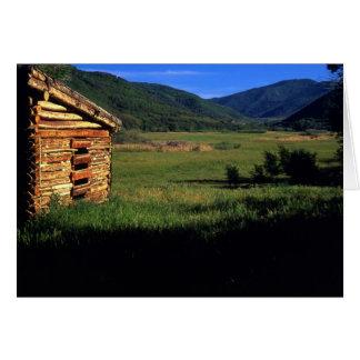 Old log homestead near Park City, Utah. (P.R.) Card