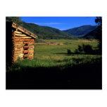 Old log homestead near Park City, Utah. (P.R.) Postcard