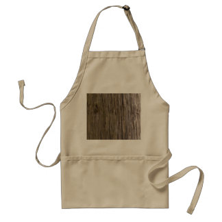 Old log texture apron