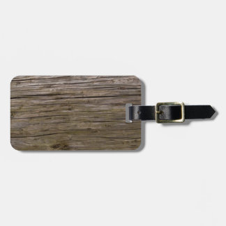 Old log texture tag for luggage