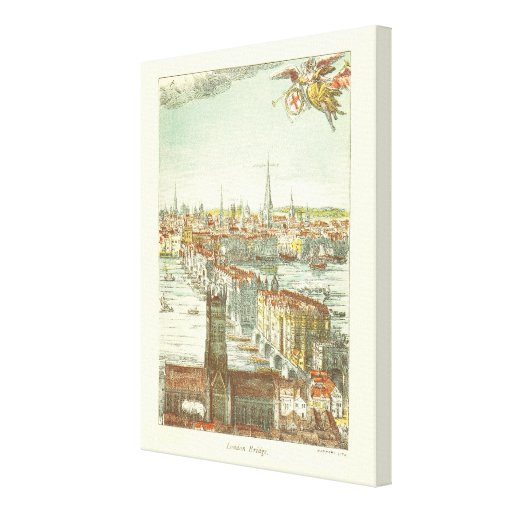 Old London Bridge, England Stretched Canvas Prints