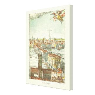 Old London Bridge, England Canvas Print