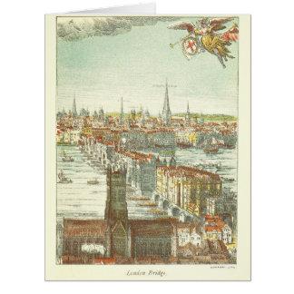 Old London Bridge, England Card