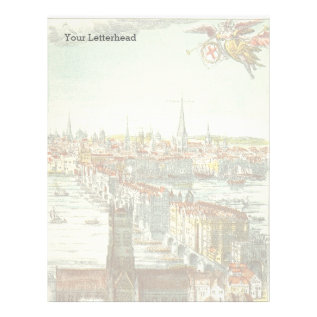 Old London Bridge, England Letterhead at Zazzle