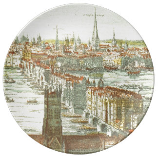 Old London Bridge, England Porcelain Plate