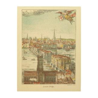Old London Bridge, England Wood Print