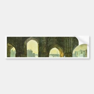 Old London Brige By Turner Joseph Mallord William Car Bumper Sticker