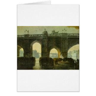 Old London Brige by William Turner Card