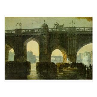 Old London Brige by William Turner Postcard