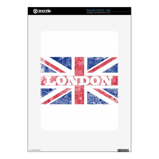 Old London flag Skins For iPad