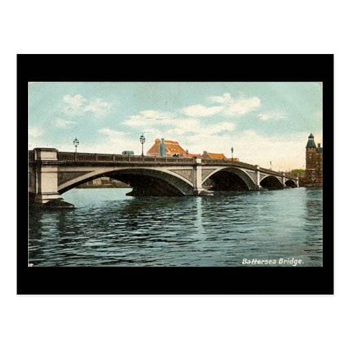 Old London Postcard - Battersea Bridge 1911