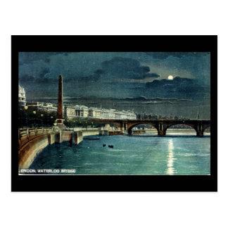 Old London Postcard - Waterloo Bridge