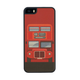 Old London Red Double Decker Bus Carved® Maple iPhone 5 Case
