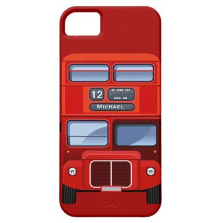Old London Red Double Decker Bus iPhone 5 Case