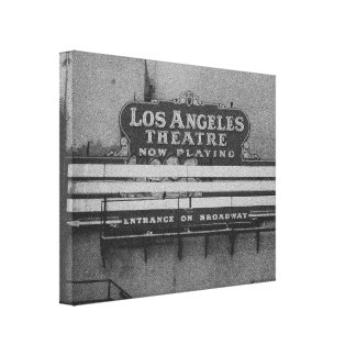 Old Los Angeles Theatre Sign Gallery Wrapped Canvas