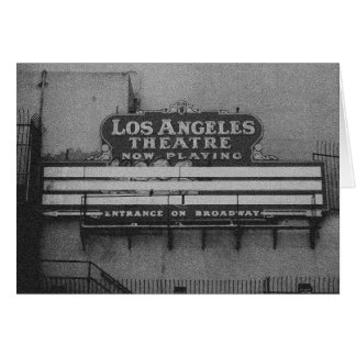 Old Los Angeles Theatre Sign Card