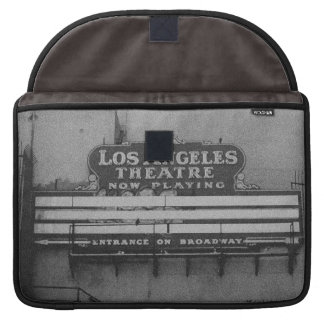 Old Los Angeles Theatre Sign MacBook Pro Sleeves