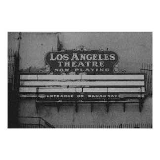 Old Los Angeles Theatre Sign Poster