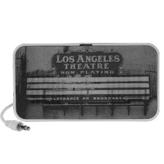 Old Los Angeles Theatre Sign Laptop Speakers